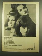 1965 Max Factor Sheer Genius Make-Up Ad - $14.99
