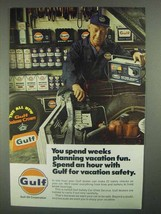 1967 Gulf Oil Ad - Weeks Planning Vacation Fun - $14.99