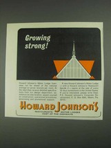 1967 Howard Johnson Motor Lodges Ad - Growing Strong - $14.99
