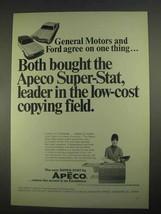 1967 Apeco Super-Stat Copier Ad - General Motors Ford - $14.99