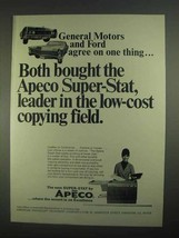 1967 Apeco Super-Stat Copier Ad - General Motors and Ford Agree - $14.99