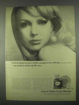 1967 Clairol Make-up Ad - Lucky Enough to Be a Blonde - $14.99