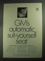 1968 GM Ternstedt 6-Way Power Seats Ad - Suit-Yourself - $14.99