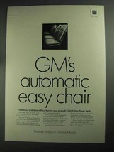 1968 GM Ternstedt 6-Way Power Seats Ad - Easy Chair - $14.99