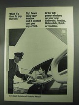 1968 GM Ternstedt Power Windows Ad - Pay The Toll - $14.99