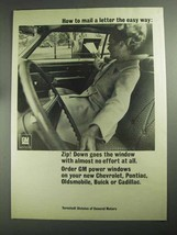 1968 GM Ternstedt Power Windows Ad - Mail a Letter - $14.99