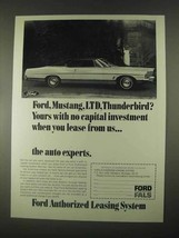 1967 Ford Authorized Leasing System FALS Ad - $14.99