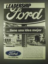 1967 Ford Motors Ad - Leadership - $14.99