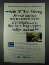1967 General Electric Computer Time-Sharing Service Ad - $14.99
