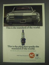 1967 GM AC Spark Plugs Ad - The Standard of the World - $14.99