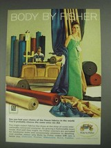 1967 GM Body by Fisher Ad - Finest Fabrics in World - $14.99