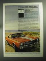 1968 Remington Auto-Home Shaver Ad - 1969 AMX Car - $14.99
