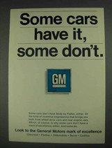 1967 GM General Motors Ad - Some Cars Have It - $14.99