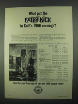 1967 Gulf Oil Ad - What Put the Extra Kick In Earnings - $14.99