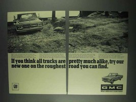 1967 GMC Pickup Truck Ad - Roughest Road You Can Find - $14.99