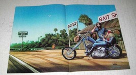 1983 David Mann Illustration - Bait Shop - $14.99