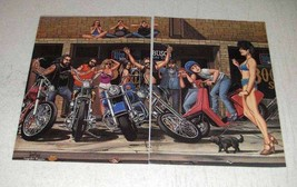 1986 David Mann Illustration - Walking the Dog - $14.99