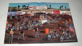 1987 David Mann Illustration - Ventura Biker Rodeo - $14.99