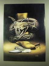 1988 David Mann Illustration - Rattlesnake - $14.99