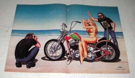 1988 David Mann Illustration - Beach - $14.99