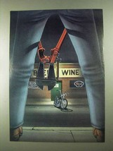 1989 David Mann Illustration - Beer Wine - $14.99