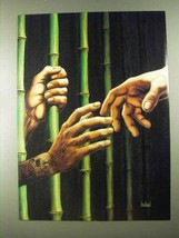 1989 David Mann Illustration - Bamboo Jail - $14.99