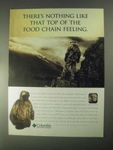 1998 Columbia Silent Rain Parka Ad - Top of Food Chain - $14.99