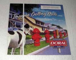 1998 Doral Cigarettes Ad - Imagine Getting More - $14.99