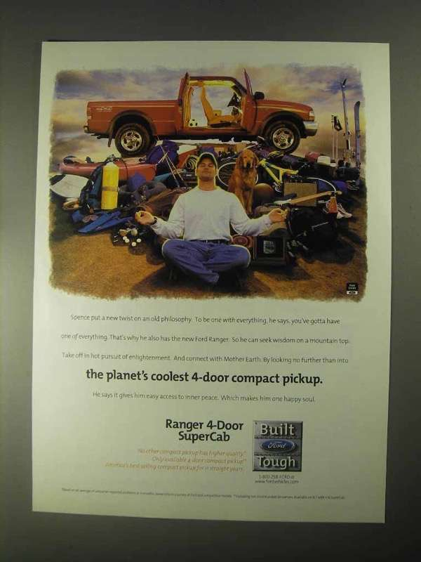 Primary image for 1998 Ford Ranger 4-Door SuperCab Pickup Truck Ad