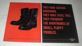 1998 Harley-Davidson MotorClothes Boots Ad - $14.99