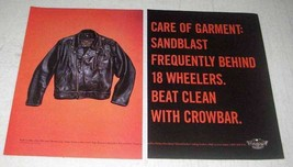 1998 Harley-Davidson MotorClothes Riding Leathers Ad - $14.99