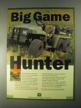 1998 John Deere Trail Gator UV ATV Ad - Big Game Hunter - $14.99