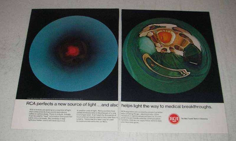 1967 RCA Electronics Ad - Perfects New Source of Light