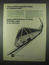 1967 RCA Spectra 70 Computer Ad - Phantom Train - $14.99