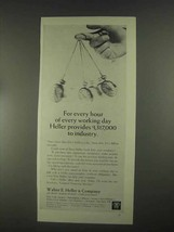 1967 Walter E. Heller & Company Ad - For Every Hour - $14.99