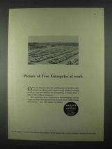 1967 Warner & Swasey Machinery Ad - Free Enterprise - $14.99