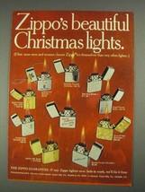 1967 Zippo Lighters Ad - Beautiful Christmas Lights - $14.99
