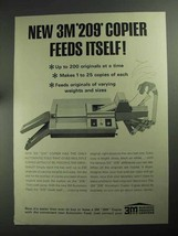 1968 3M 209 Copier Ad - Feeds Itself - $14.99