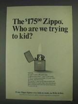 1967 Zippo Lighter Ad - Who Are We Trying to Kid? - $14.99