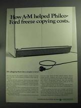 1968 A-M Copy Service Plan Ad - Philco-Ford Freeze - $14.99