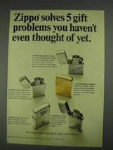 1967 Zippo Lighters Ad - Solves 5 Gift Problems - $14.99