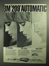 1968 3M 209 Automatic Copier Ad - NICE - $14.99