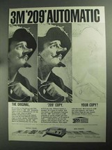 1968 3M 209 Automatic Copier Ad - $14.99