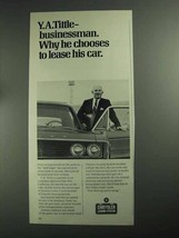 1968 Chrysler Leasing System Ad - Y.A. Tittle - $14.99