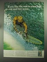 1968 Clairol Sudden Summer Hair Color Ad - You Like Sun - $14.99