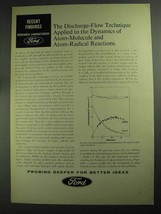 1968 Ford Research Laboratories Ad - Discharge-Flow - $14.99