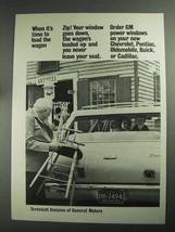 1968 GM Ternstedt Power Windows Ad - Load Wagon - $14.99
