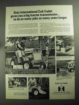1968 International Harvester Cub Cadet Tractor Ad - $14.99