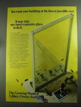 1968 Libbey-Owens-Ford Glass Ad - Building Lowest Cost - $14.99