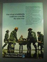 1968 Libbey-Owens-Ford Glass Ad - Windshields Save Life - $14.99